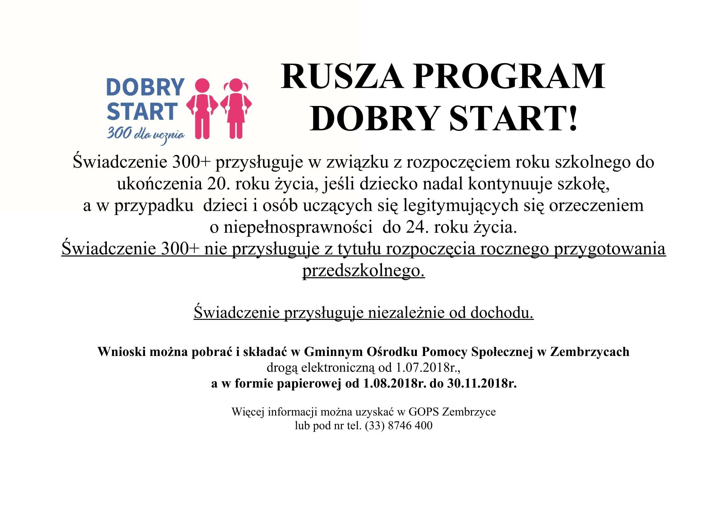 ab63cb4036b05d Gminny Ośrodek Pomocy Społecznej w Zembrzycach informuje, że w ostatnich  dniach Rząd ustanowił program