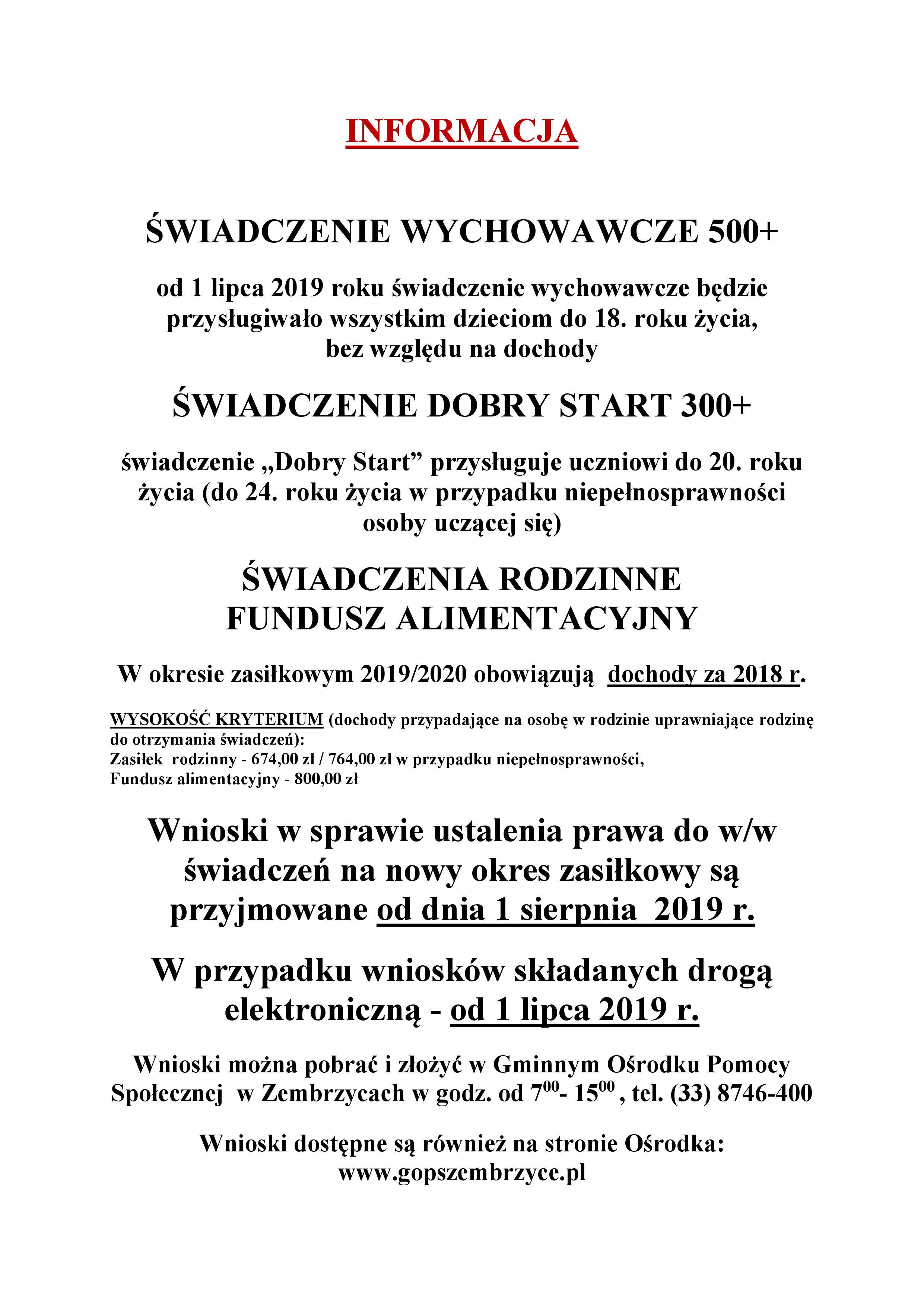 fe02f872220999 Przypominamy, że Gminny Ośrodek Pomocy Społecznej w Zembrzycach realizuje  projekt pn.